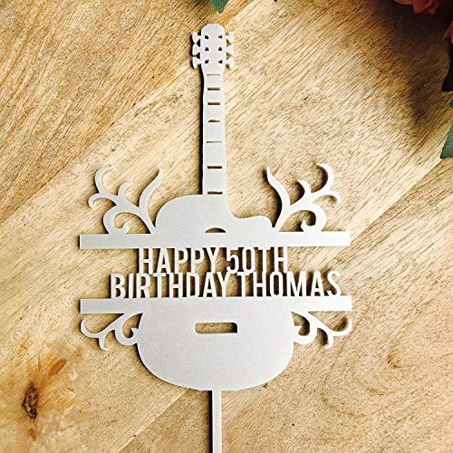 Decoración para tarta de guitarra, decoración para tarta personalizada, decoración para tarta de cumpleaños, boo, decoración para tartas