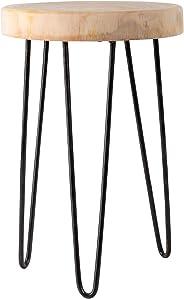 Lifestyle & More Rustieke massief houten bijzettafel boomschijf met schors houten tafel kruk van boomschijf salontafel salon