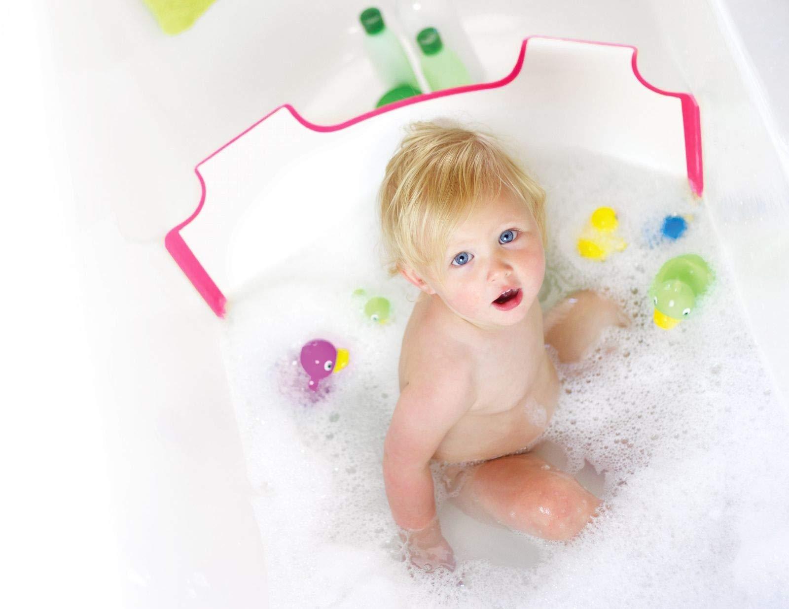 BabyDam Bathwater Barrier   Baby Bath Tub   Converts A Standard Bath to A Baby Bath (White Pink)... 3
