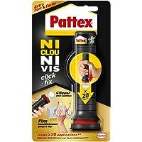 Pattex Ni Clou Ni Vis Click & Fix, colle de fixation sous forme d'applicateur pré-dosé, jusqu'à 20 doses, colle rapide…