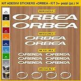 Adesivi Bici ORBEA- KIT 3- Kit adesivi stickers 14 Pezzi -SCEGLI SUBITO COLORE- bike cycle pegatina Cod.0932 (010 BIANCO)