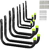 Housolution Ensemble de Crochets pour Garage, 8 Pièces / 4 Tailles, Crochets Utilitaires en Vrac, Rangement Cintres de Jardin