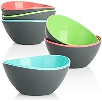 COM-FOUR® Ensemble de 6 bols à salade - Petits bols pour salade, snacks, noix et fruits - Bols à snack décoratifs…