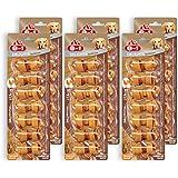 8in1 Delights Barbecue BBQ Kauknochen Größe XS (gesunder Kausnack für kleine Hunde von 2 bis 12 kg, hochwertiges Hähnchenfleisch eingewickelt in Rinderhaut), 6 Stück (6 x 84 g)