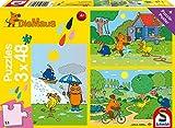 Schmidt Spiele Puzzle 56213 - Die Maus Viel Spaß, 3 x 48 Teile