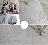 YUELA Jane Jane beauty wallpaper Qiangbu seamless retro jacquard satin floral bedroom living room covered with non-woven fabric,Grey caffeine