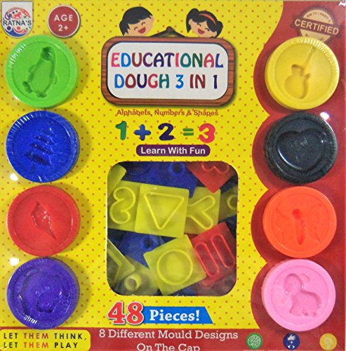 Educational Dough 3 in 1 (48 Pieces) (Multi)