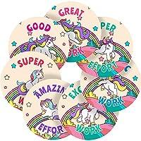 Graphic Flavour Nursery Kids Adorable Cute Fairyland Unicorns Reward Sticker Labels, Children, Parents, Teachers