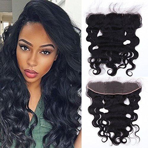 Lace Closure Human Hair Brasilianischen Haar Body Wave Remy Echthaar Remy Haarverlängerung mit Baby Hair Naturschwarz 13*4 Zoll 30cm