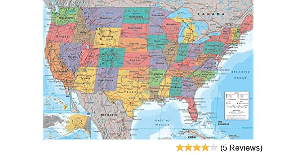 Amazon De Usa Landkarte Poster Poster Grossformat