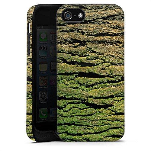 Apple iPhone X Silikon Hülle Case Schutzhülle Baumrinde Rinde Look Baum Holz Tough Case matt