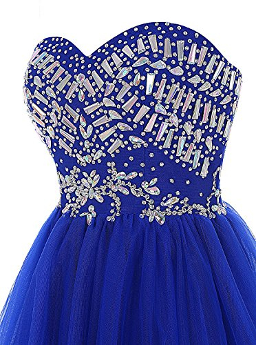 Fanciest Damen Beaded Ball Kurz Ball Kleider 2016 Wedding Party Kleider Dark Red Navy Blue
