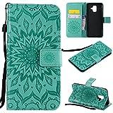 für Galaxy A6 2018 Hülle,Geprägte Muster Handy hülle/Tasche / Cover/Case für das Samsung Galaxy A6 2018 PU Leder Flip Cover Leder Hülle Standfunktion Kredit Kartenfächer (S) (5)