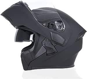 Jiekai Doppelscheiben Helm Modularer Motorradhelm Klapphelm Motorradhelm Für Motocross Racing Sport Freizeit