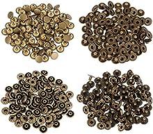 Outus Botones de Presión de Bronce Corchetes de Presión de No Coser Ropa, 10 mm, 100 Conjuntos