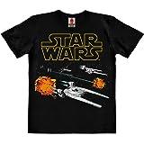 Logoshirt Star Wars - Rogue One - U-Wing - X-Wing - Tie Fighter - Starfighter Camiseta 100% algodón ecológico para niño - Neg