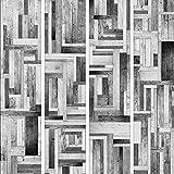 murando - PURO TAPETE - Realistische Holzoptik Tapete ohne Rapport und Versatz 10m Vlies Tapetenrolle Wandtapete modern design Fototapete - Holz Bretter Parkett grau braun f-A-0080-j-d