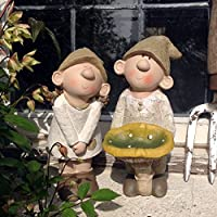 Bill and Beryl Elves standing mushroom, Garden Ornament, Gnome, Garden Fairy, Troll, Imp, Mushroom