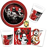 HHO Star Wars Episode 8 Partyset 52tlg. Teller Becher Servietten für 16 Kinder