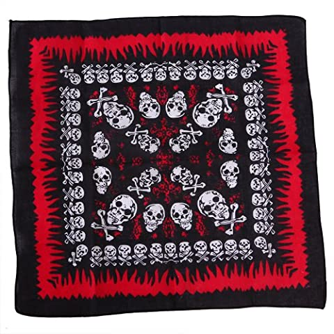 HDE 100% Cotton Pattern Print Bandana - Assorted