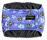 Buzzy Bees Hunde Urin-Inkontinenz-Bauchband-Windel–wasserdichter Stoff–Option waschbare Einlage