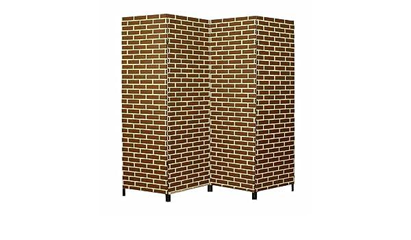 Raumteiler 4-teilig Spanische Wand Paravent 180 cm XL Trennwand Ziegelstein