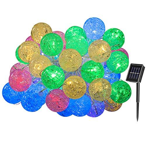 Yasolote Guirnalda Luces Solar 5M Cadena luces Decorativas