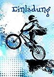 Komma3 Teenager Einladung Geburtstag 8er-Set BMX Mountainbike 8 Karten 16x11cm