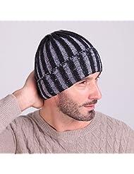 lkklily-two-color rayas gorro de lana, otoño/invierno moda para hombres y mujeres fuera cálido gorro de punto gorra de esquí en forma de sandía