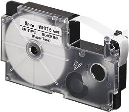 Casio XR-9TWE Thermal Paper Label Printer Tape (Black and White)