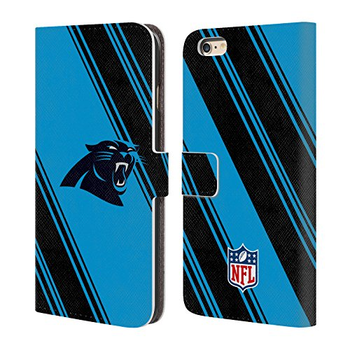 Ufficiale NFL Righe 2017/18 Carolina Panthers Cover a portafoglio in pelle per Apple iPhone 4 / 4S Righe