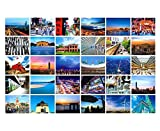 30 PCS kreative Künste Karten Schöne Weltlandschafts-Foto-Postkarten, A1