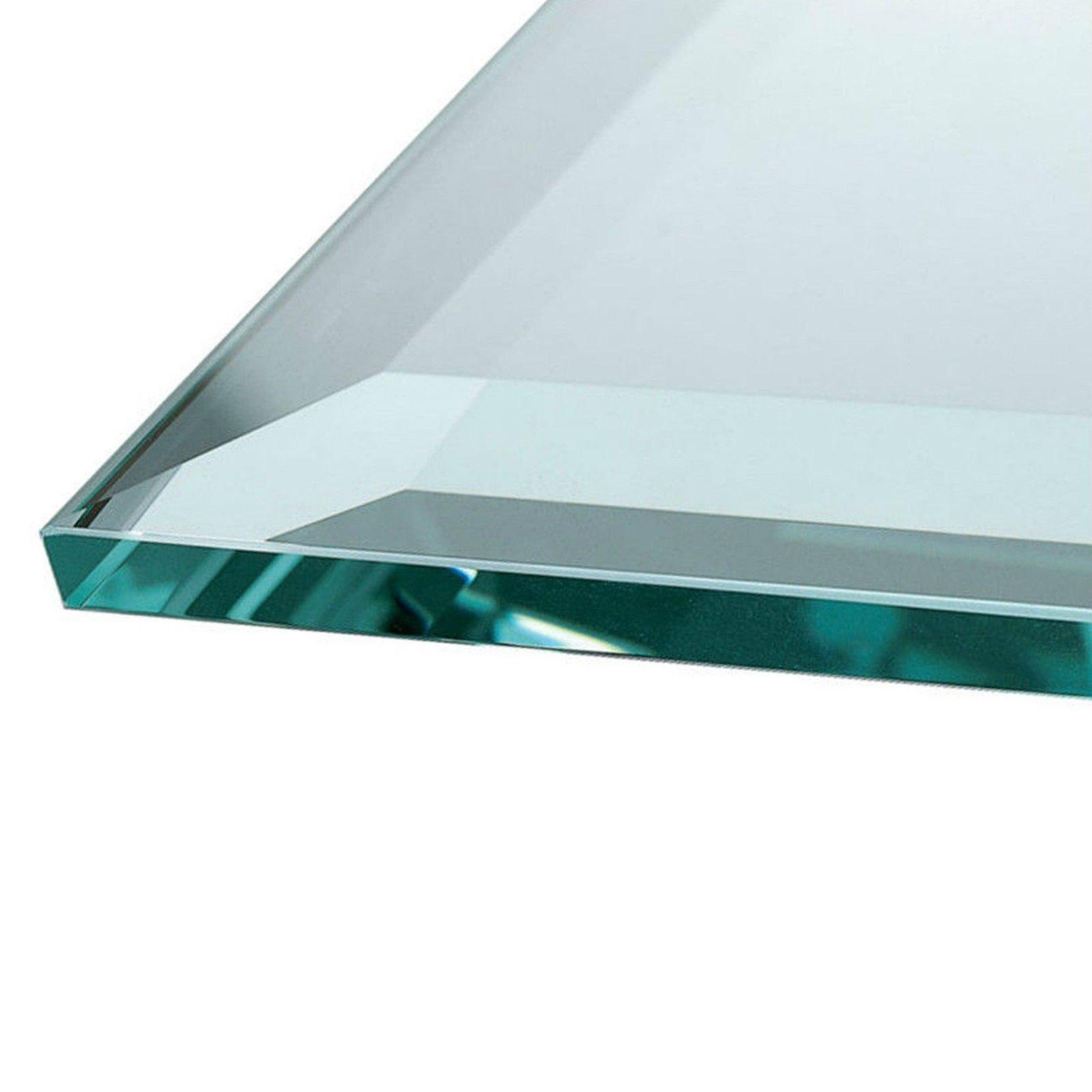 Euro Tische Glasplatte für Kaminofen - Glasscheibe mit 6mm ESG Sicherheitsglas - perfekt geeignet als Funkenschutzplatte - Verschiedene Größen (70x70cm, Schwarz) 2