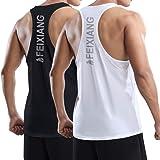MEETWEE Camiseta de Tirantes Deporte Hombre, Camisetas sin Mangas Secado Rápido Tank Top Camiseta Deportiva para Running Fitn