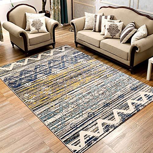 Thole Teppich Kurzflor Modern 1.5cm Wohnzimmer Schlafzimmer Waschbar Retro Polypropylen Geometrisches Abstraktes Muster Kinderkrabbeldecke,Stripe,160x230cm -