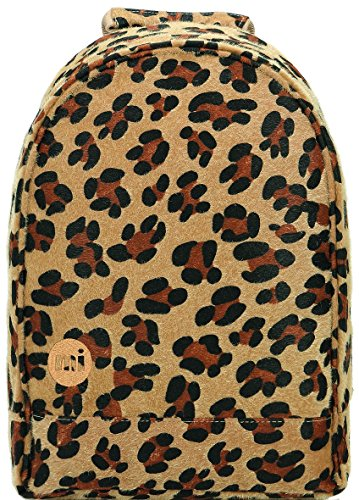 Mi-Pac Xs Gold Backpack Mochila Tipo Casual, 37 cm, 12 Litros, LeopardPonyTan