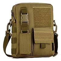 HUNTVP Sac Bandoulière Sac d'Epaule Sac Militaire Molle Tactique en Nylon Sac avec Pochette de Clé Sac Multifonctionnel…