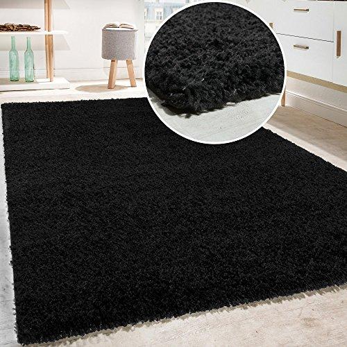 Shaggy - tappeto a pelo lungo in diversi colori e misure, dimensione:190x280 cm, colore:schwarz