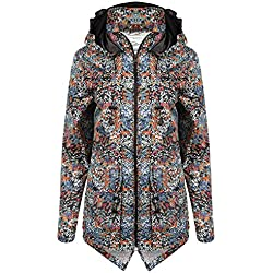 Para mujer Tokyo Laundry Fusion impermeable chubasquero chaqueta cortaviento para chaqueta con palangre Floral Ditsy 36