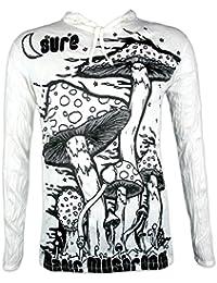 Sure Camiseta con Capucha Hombre Hongo Mágico Talla M L XL Arte Psicodélico Cáñamo Alucinógeno