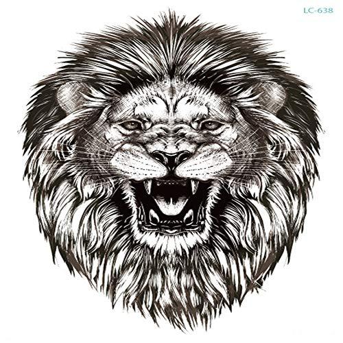 adgkitb Herrschsüchtiges Tier Tiger Wolf Bär Wild Tattoo Sticker Foto Studio Foto Großbild Tattoo Körper Arm 26 21x15cm