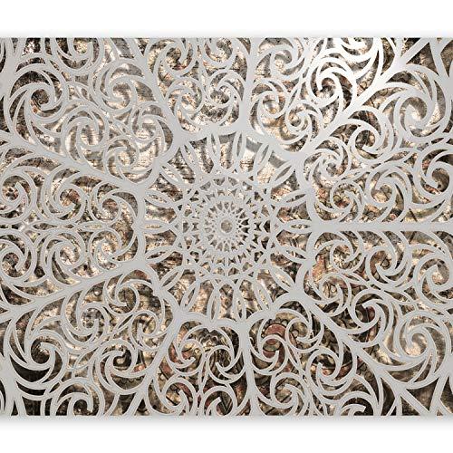 murando - Fototapete 400x280 cm - Vlies Tapete - Moderne Wanddeko - Design Tapete - Wandtapete - Wand Dekoration - Mandala Orient Astrakt 3D f-A-0583-a-a
