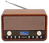 MEDION E66312 DAB+ Radio (UKW, 20 Senderspeicher, Netz- oder Batteriebetrieb, Teleskopantenne) braun