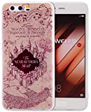 Roreikes Huawei P10 H�lle,Huawei p10 H�lle Case,TPU Silikon H�lle f�r Huawei p10 Handyh�lle Schale Etui Protective Cover R�ck mit Ultra slim transparent Gepr�gte Matte Muster kratzfest Design (5.1Zoll) medium image