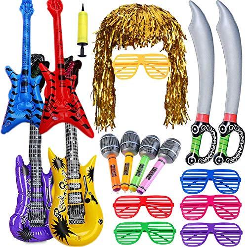 Juguetes Cumpleaños Infantiles Niños-Juguete de Instrumentos Guitarra, Saxofón, Beth, Espada Pirata de...
