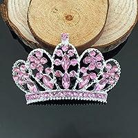 Tangpan 10pcs Corona Imperiale Strass Bottoni Decorazione Fai Da Te Accessori Artigianato Pink