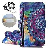 Coopay Portable iPhone 7 Plus/ 8 Plus Coque avec Motif Couleur Mandala Fleur...