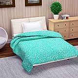 #9: Mahadev Handicrafts Reversible Microfibre Comforter/Blanket/Quilt/Duvet, AC Single Dohar, Turquoise Green