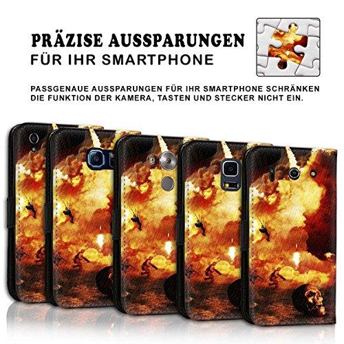 Wallet Book Style Flip Handy Tasche Case Schutz Hülle Schale Motiv Etui für Apple iPhone 6 Plus / 6S Plus - Variante UMV15 Design12 Design 5