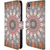 Official Monika Strigel Dots Mandala Leather Book Wallet Case Cover For HTC Desire 820